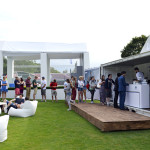 Temporary container pop-up food evento Lavazza