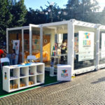 temporary container doppio vetrato BeRetail di BestLocation